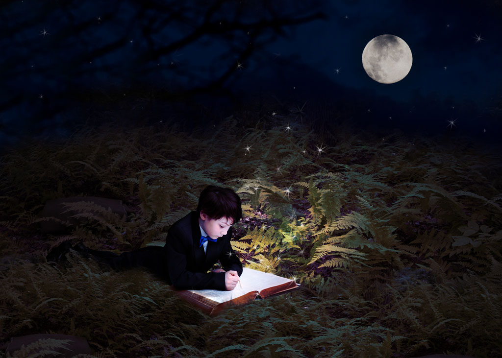 Moonlit reading